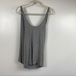 NWT Sz Chaser Gray cool jersey draped back tank